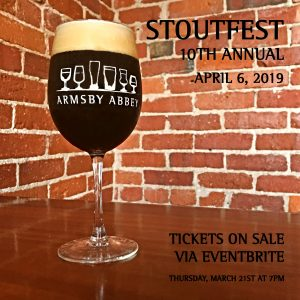 10th Annual Stoutfest Breakfast 4/6 @ Armsby Abbey